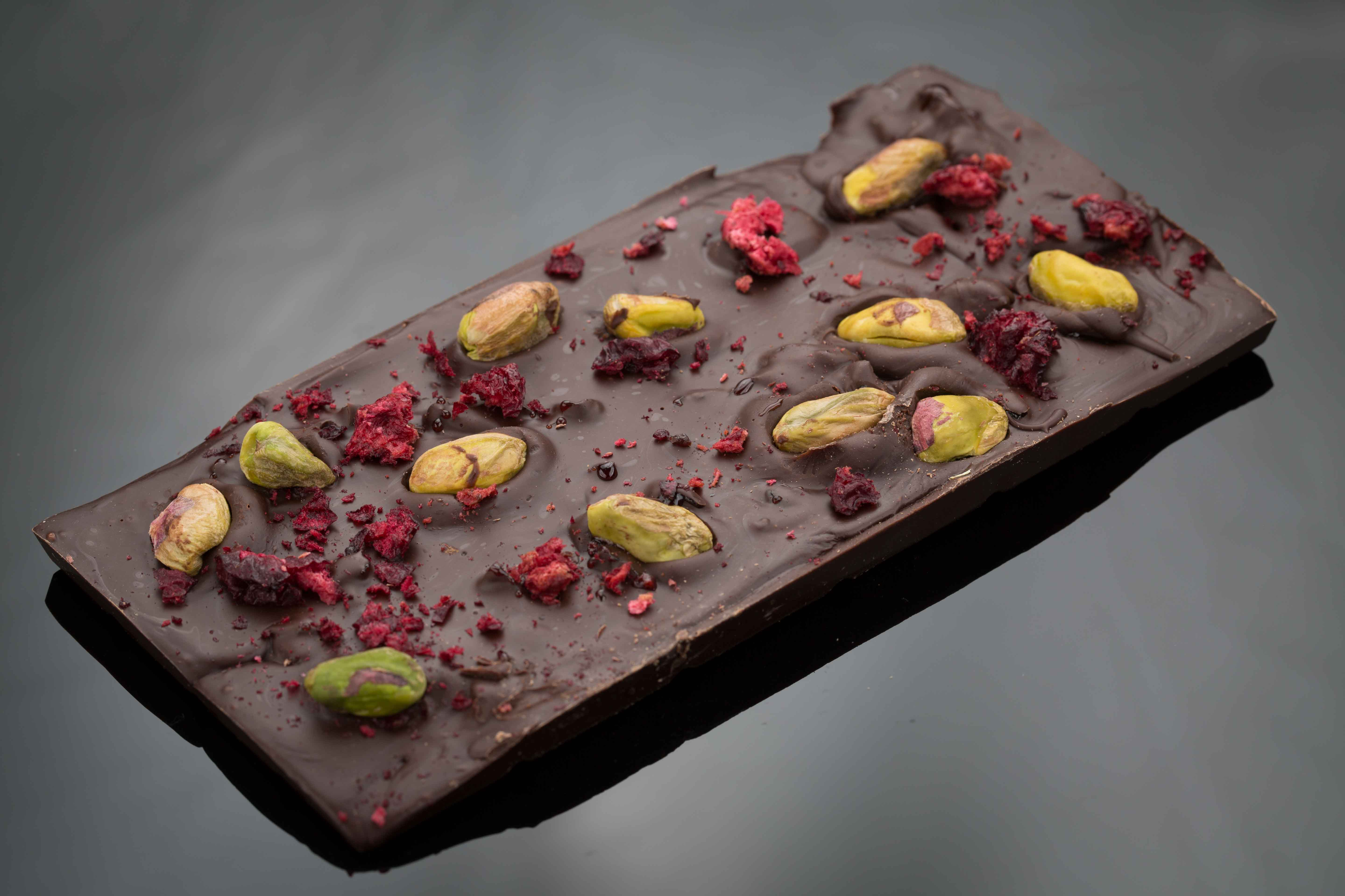 Chocolate Gifts, Pistachios Dark Chocolate - The Chocolate Room